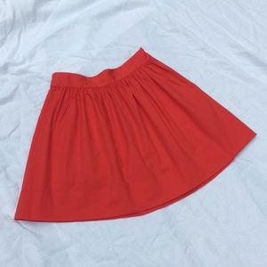 Banana Republic Women's Red pleated Circle Skirt 2